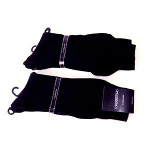 LORENZO UOMO Black Cashmere Socks - 2 Pairs